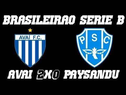 Melhores Momentos - Avaí 2 x0 Paysandu - Campeonato Brasileiro Série B (30-09-016)