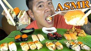 กินซูชิ-ไก่ป๊อบราดซอสพริก-กรอบๆยั่วๆอร่อยฟิน-asmr-joe-channel