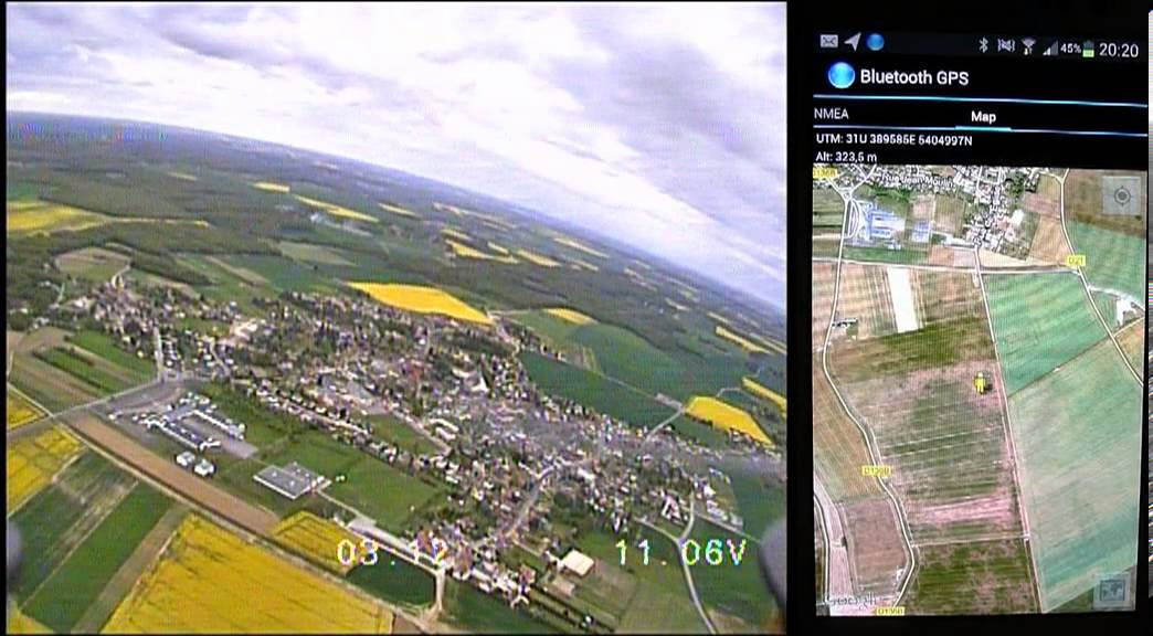 Drone FPV Android Google Map Without The Range Limitation Of Xbee - Drone maps google