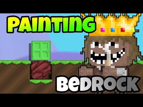 Growtopia | Painting White Door & Bedrock! [GLITCH]