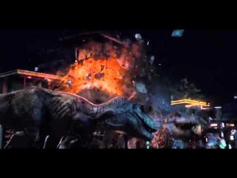 Jurassic World - T Rex vs Indominus Rex (Original Jurassic Park Theme Edit)