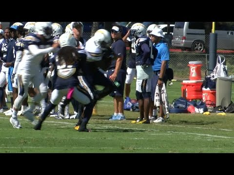 Jacoby Jones makes great catch at Chargers practice