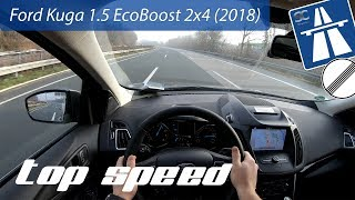 Ford Kuga (2018) on German Autobahn - POV Top Speed Drive