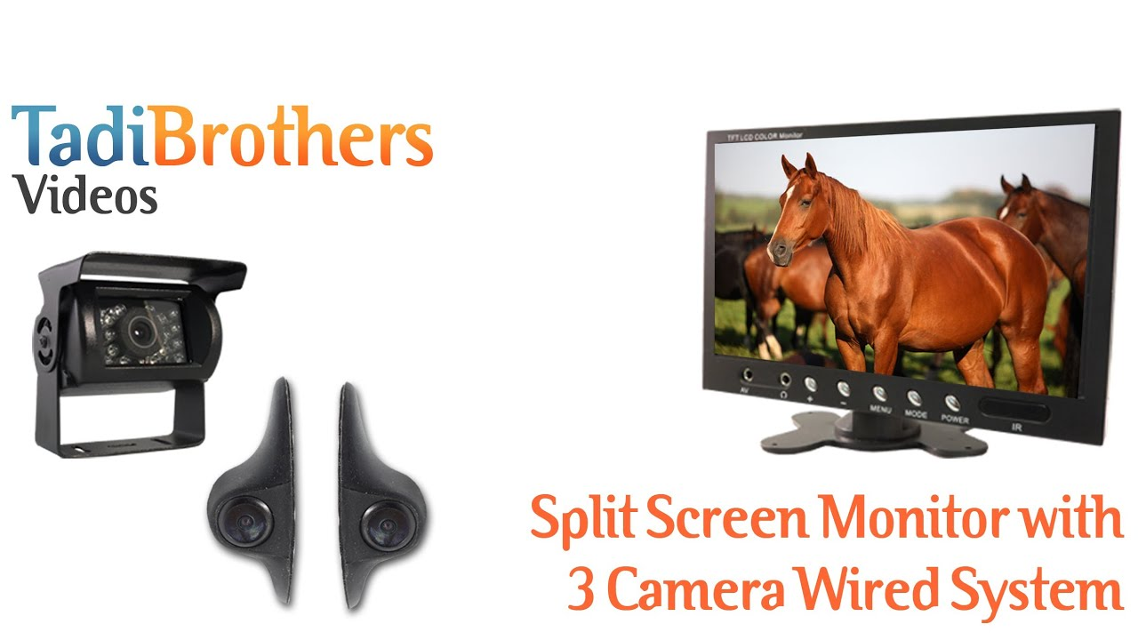 Wired 3 Camera Horse Trailer Backup Camera Systems from www ...