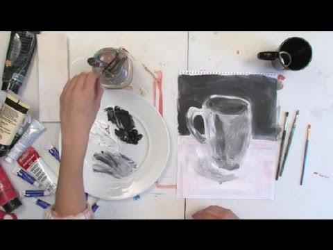 How to black white still life oil painting painting techniques
