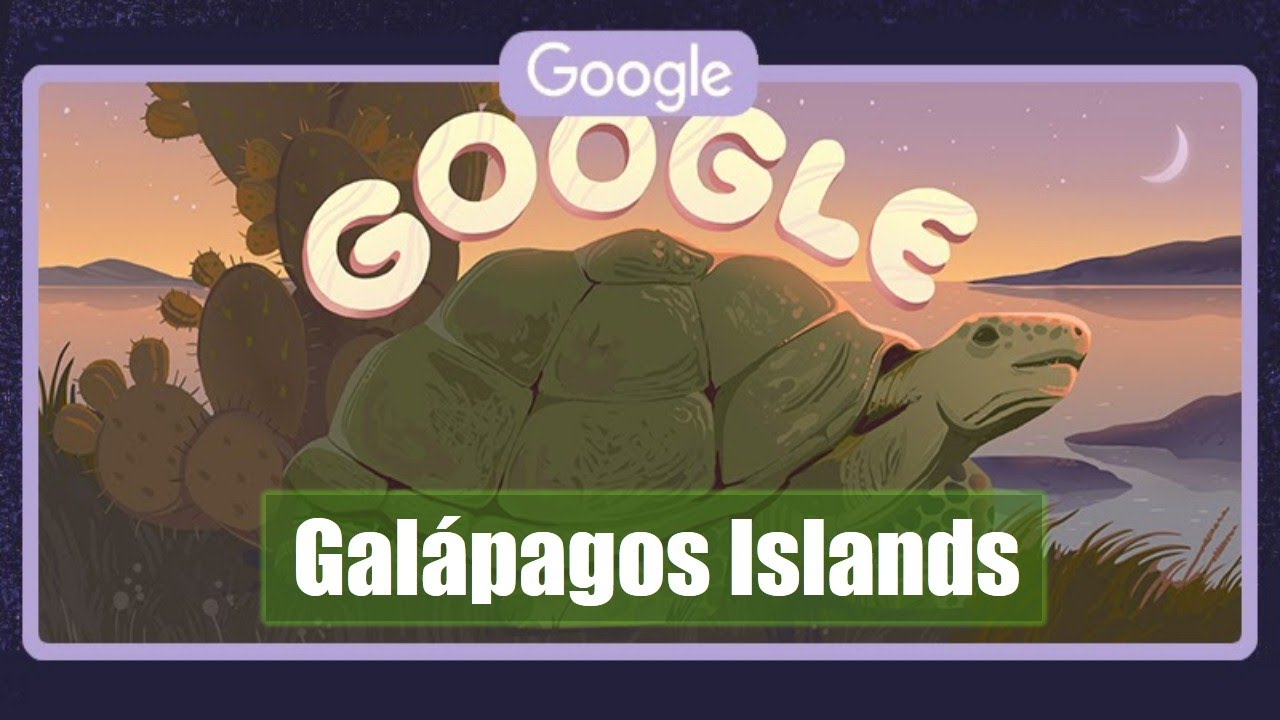 Google Doodle slideshow celebrates Galapagos Islands