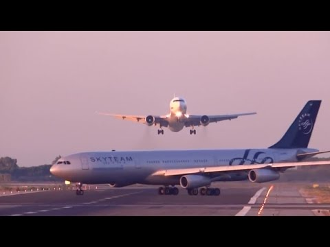 Two Planes Almost Collide While Landing At Airport In Barcelon, Spain