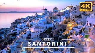 Gorgeous Sunset in Santorini, Greece | Ammoudi Bay Santorini | Greece Santorini 4K Drone | Oia