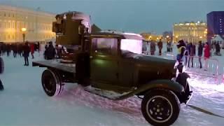 Панорама блокады. 3D шоу на Дворцовой площади