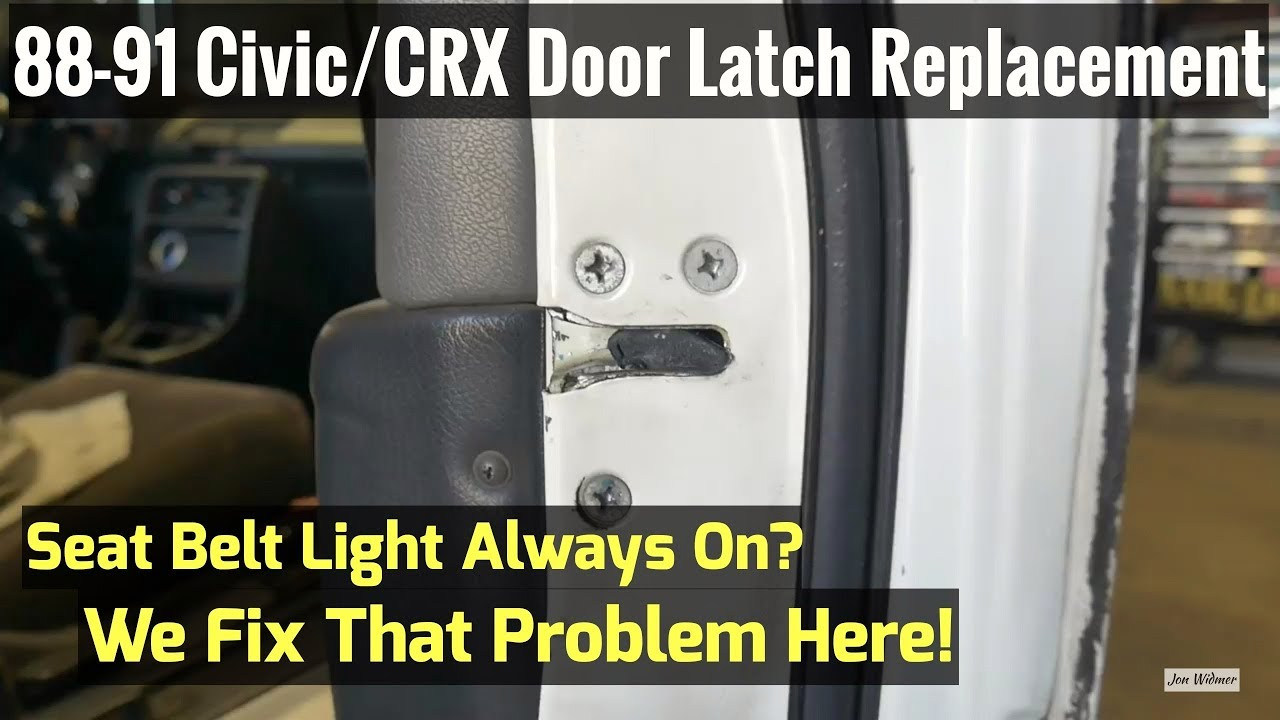 How To Replace Door Latch on Honda 88-91 Civic/CRX