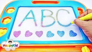 กระดานลบได้ ABC | หัดอ่าน หัดเขียน ABC | Learn ABC With Magnetic board