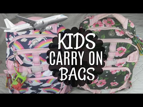 KIDS CARRY ON AIRPLANE BAGS   WHAT TO PACK FOR DISNEY VACATION   KEEP THEM BUSY!