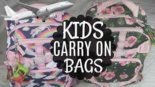 KIDS CARRY ON AIRPLANE BAGS | WHAT TO PACK FOR DISNEY VACATION | KEEP THEM BUSY!