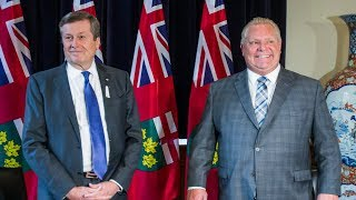 A UNITED FRONT?: Ford and Tory chat hot topics after council shrinks