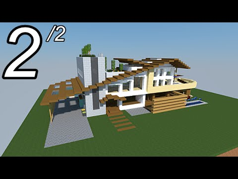 Minecraft tutoriel maison moderne vid o 2 2 youtube for Minecraft maison moderne plan