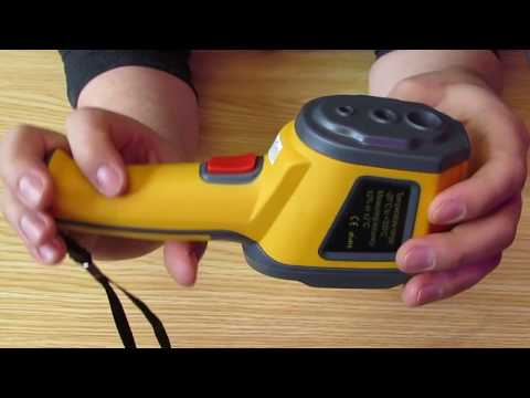 Inexpensive infrared thermal imager HT-02, review, test, settings.