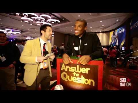 We asked Cam Newton trivia at Super Bowl XLVIII