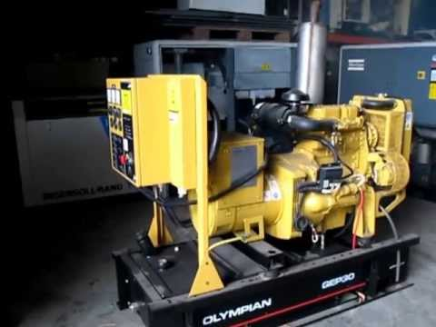used equipment caterpillar olympian gep 30 video 1 youtube rh youtube com