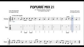 21 de 30 Popurrí Mix Tablatura Partitura de Guitarra La Reina Berenguela En un mercado persa Arroz