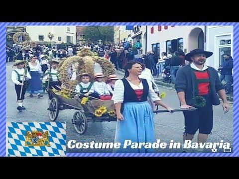 Traditional Costume Parade in Bavaria (sights of Bavaria) OKTOBERFEST GERMANY
