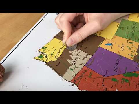 Scratch Off USA Map from Landmass - Track Your Travels across the United States.
