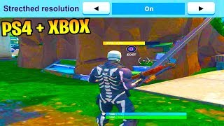 How To Get Stretched Resolution On CONSOLE FORTNITE! (FORTNITE PS4/XBOX ONE STRETCHED RESOLUTION)