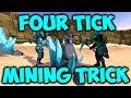 runescape - 4 tick mining trick | rockertunities