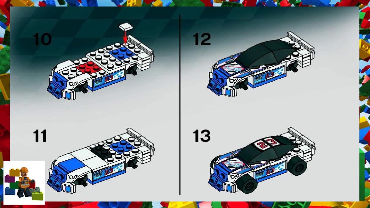 Lego Instructions Racers 8125 Thunder Raceway Youtube