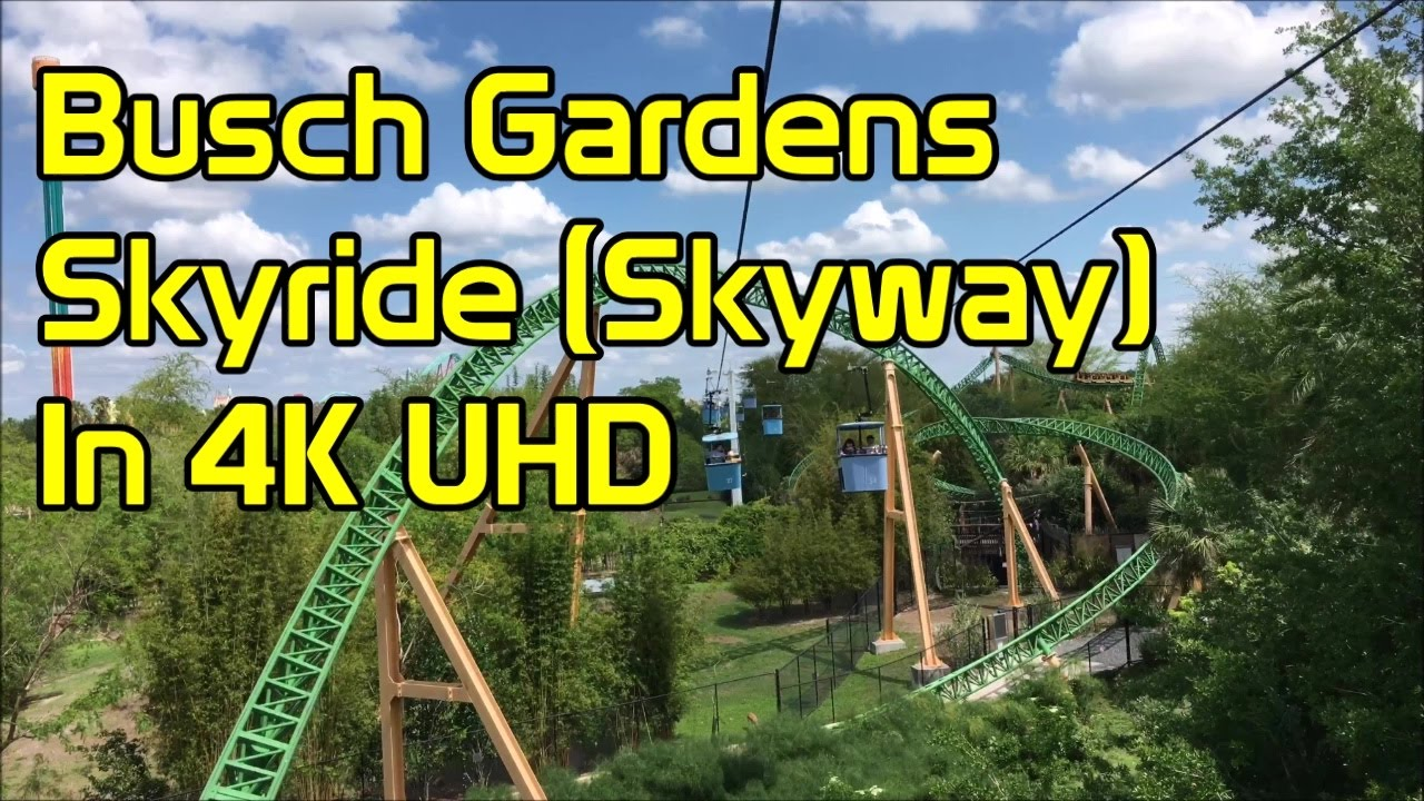 Busch Gardens | Skyride | 4K UHD | Full Ride | Tampa