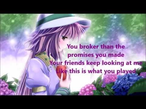 Destiny Briona - 1 Night Lyrics (Nightcore sped up) PTU -