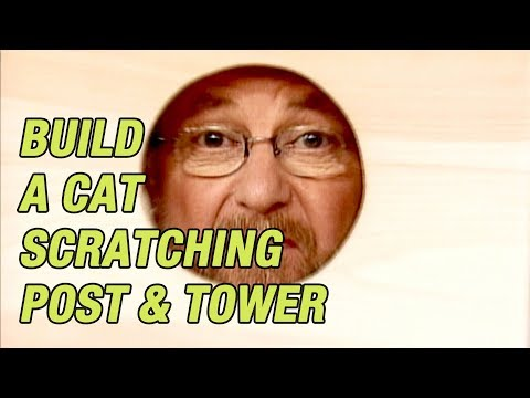 How To Build A Cat Tree Complete With Scratching Post And Tower