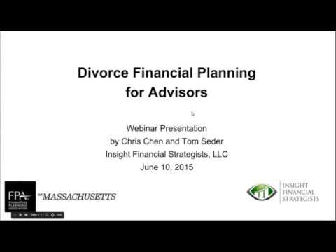 Some high level issues with Divorce Financial Planning in MA