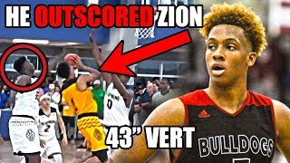 """Meet The Player With a 43"""" VERTICAL Who OUTSCORED Zion Williamson"""