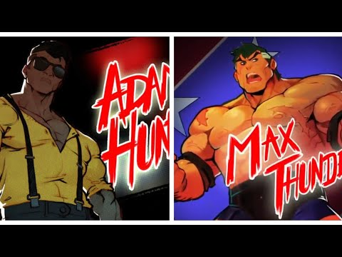 Streets of Rage 4 : Max Thunder and Adam/Real Full combo Stage 1 Mania |