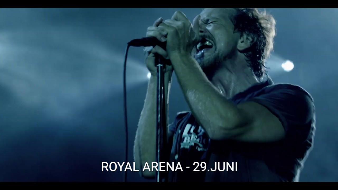 Pearl Jam 2020 Tour.Pearl Jam Europe 2020 Tour Royal Arena 29 Juni 2020
