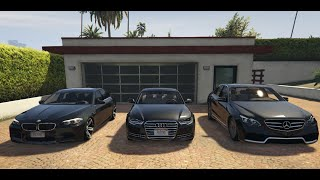 GTA V | AUDI A6 C7 VS. BMW 5 F10 VS. MERCEDES E W212 | GTA 5 MOD