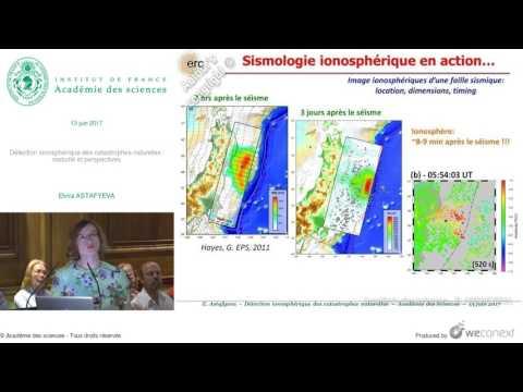 [Conférence] E. ASTAFYEVA - Détection ionosphérique des catastrophes naturelles