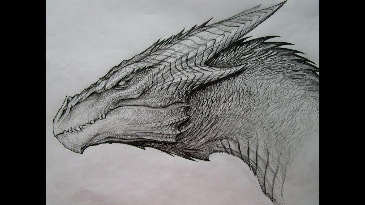 Dragon Drawing |Pencil Sketch| - YouTube