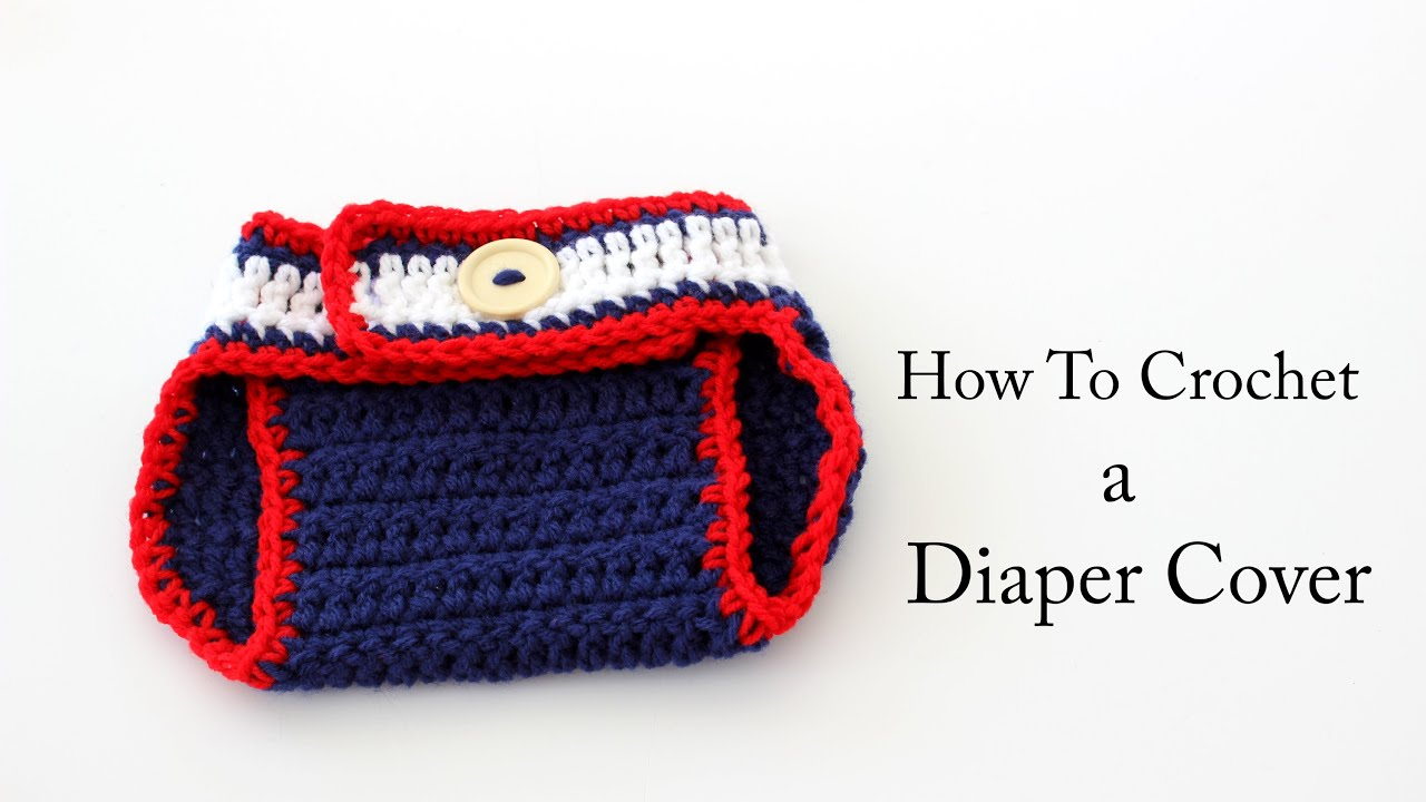 How To Crochet a New England Patriots Diaper Cover - YouTube
