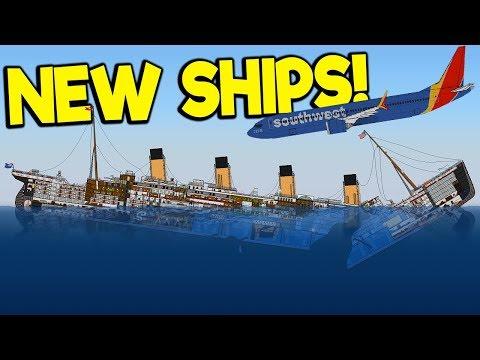Sinking The Massive New Titanic & New Plane! - Sinking Simulator 2 Gameplay