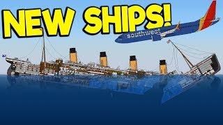 Sinking the Massive New Titanic u0026 New Plane! - Sinking Simulator 2 Gameplay