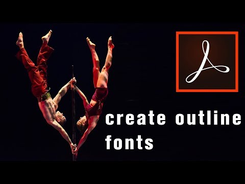 How To Outline Text In Adobe Acrobat | Convert Fonts To Curves - PDF