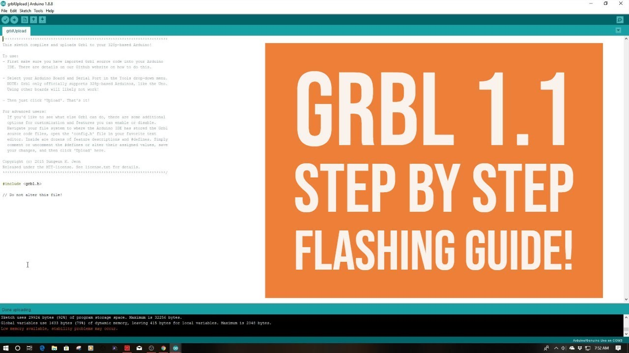 GRBL 1 1 - Step By Step Installation Guide to Flashing Arduino Uno!