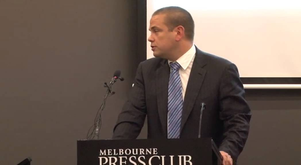 Lachlan Murdoch speaks at the Melbourne Press Club's Victorian ...