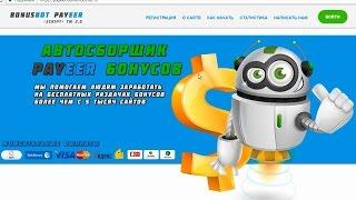 BONUSBOT PAYEER - универсальный сервис по автоматическому сбору PAYEER бонусов. Честный отзыв.
