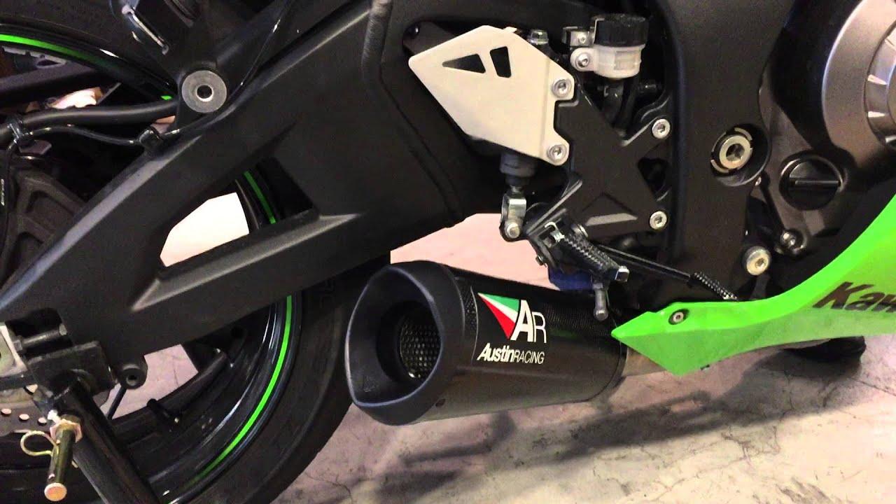 austin racing exhaust for kawasaki zx10r - youtube