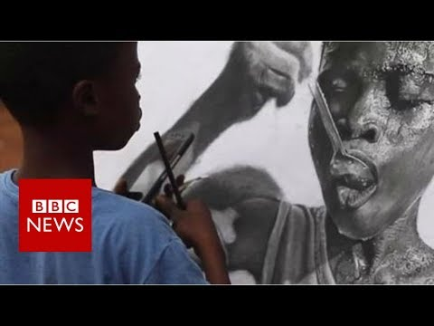Meet the 11-year-old creating hyper-real art - BBC News