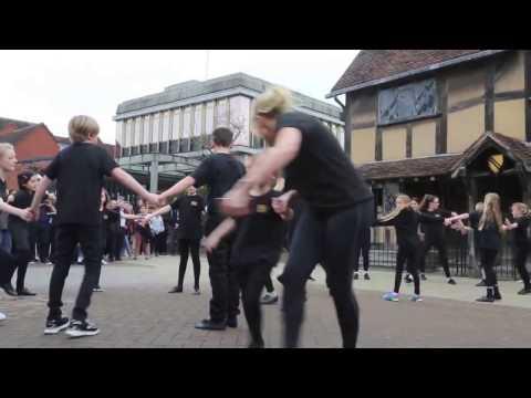 11.3.17 - Shakespeare Rocks 'flash mob' in Stratford-upon-Avon