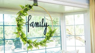 Paige Hemmis' DIY Hula Hoop Wreath - Hallmark Channel