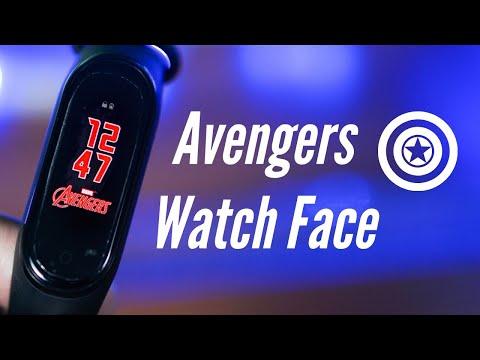 Mi Band 4 Avengers Edition Watchface